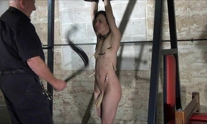 Agony of elise graves in facial humiliation and bizarre whipping of american sla