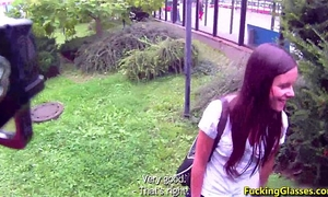 Fucking glasses - drilled for specie near the bus stop amanda