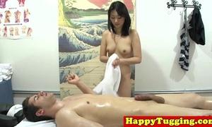 Real nuru masseuse plays with dong