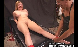 Candi apple roped and shock screwed!