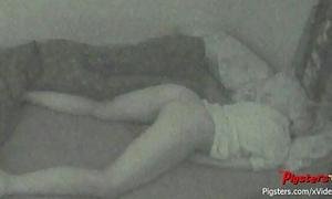 Midnight masturbation session caught on hidden webcam