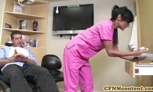 Cfnm nurse persia pele acquires a facial