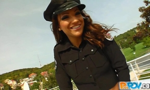 Pure pov cop drilled and facialized