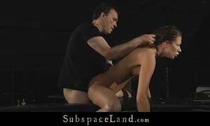 Pervert wench stephanie dominated and fucked into ass in servitude