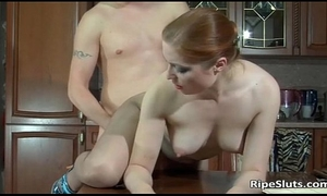 Hot looking breasty aged doxy receives juicy