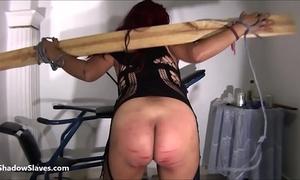 Latina bdsm and electro shock fetish of tortured south american slavegirl in ama