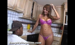 Horny milf has a lust for stepson's large dark dick!