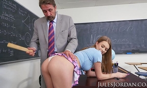 Jules jordan - jill kassidy nasty school white bitch acquires the d in detention