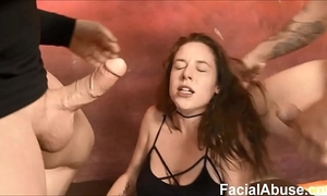 Floppy titted hippy face drilled and degraded